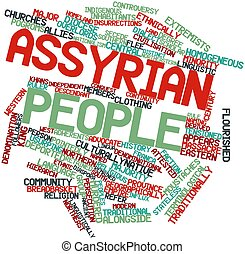 Word cloud for Assyrian people - Abstract word cloud for...