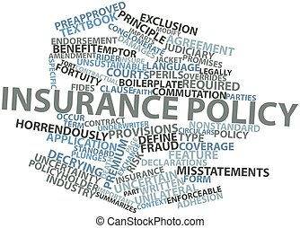 Word cloud for Insurance policy - Abstract word cloud for...