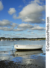 One Small Boat, Padstow Harbour, UK. - One boat with Cornish...
