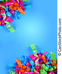 Party Streamer Celebration Background - A bright colorful...