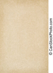 Blank Parchment Paper - A clean, blank sheet of yellowed...