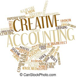 Word cloud for Creative accounting - Abstract word cloud for...