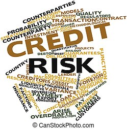 Credit risk - Abstract word cloud for Credit risk with...