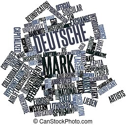Deutsche Mark - Abstract word cloud for Deutsche Mark with...