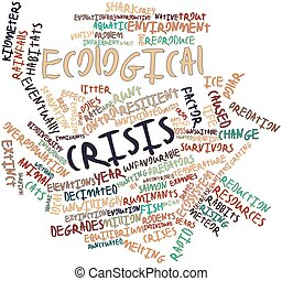 Word cloud for Ecological crisis - Abstract word cloud for...