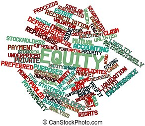 Word cloud for Equity - Abstract word cloud for Equity with...