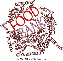Food bank - Abstract word cloud for Food bank with related...