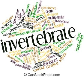 Invertebrate - Abstract word cloud for Invertebrate with...