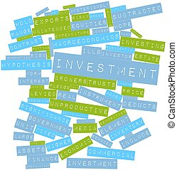 Investment - Abstract word cloud for Investment with related...
