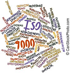 Word cloud for ISO 9000 - Abstract word cloud for ISO 9000...