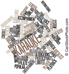 Karaoke - Abstract word cloud for Karaoke with related tags...