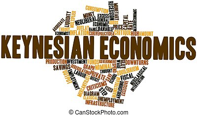 Word cloud for Keynesian economics - Abstract word cloud for...