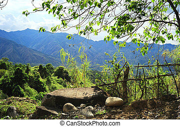 Cordillera mountains - Old broken fence in Cordillera...
