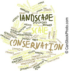 Word cloud for Landscape scale conservation - Abstract word...