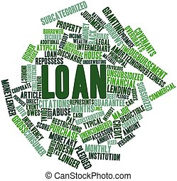 Word cloud for Loan - Abstract word cloud for Loan with...