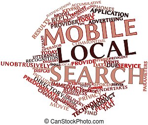 Mobile local search - Abstract word cloud for Mobile local...