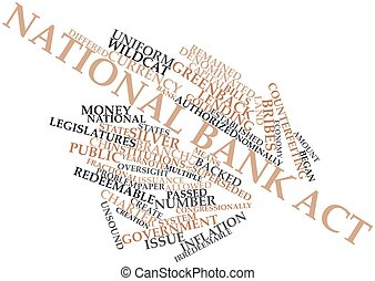 National Bank Act - Abstract word cloud for National Bank...