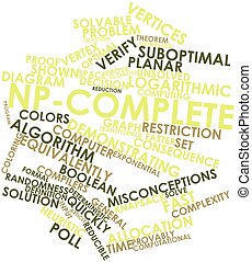 Word cloud for NP-complete - Abstract word cloud for...