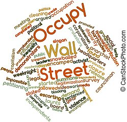 Occupy Wall Street - Abstract word cloud for Occupy Wall...