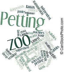 Petting zoo - Abstract word cloud for Petting zoo with...