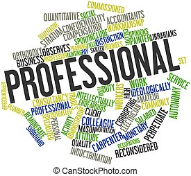 Professional - Abstract word cloud for Professional with...