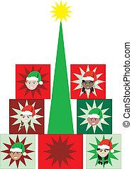 Christmas Kid Present Tree