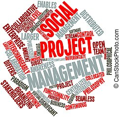 Social project management - Abstract word cloud for Social...