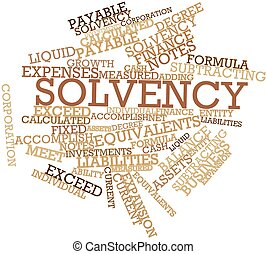 Solvency - Abstract word cloud for Solvency with related...