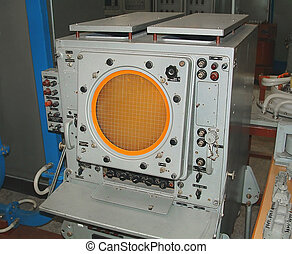 Radar - The image of the control-visual device of the Soviet...