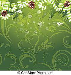 Christmas candy and pine cones - Christmas candy canes and...