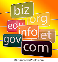 Orange Url Words Shows Org Biz Com Edu - Orange Url Words...