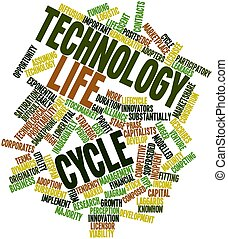 Technology life cycle - Abstract word cloud for Technology...