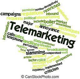Telemarketing - Abstract word cloud for Telemarketing with...