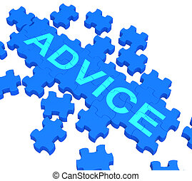 Advice Puzzle Showing Guidance And Support - Advice Puzzle...