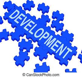 Development Puzzle Shows Business Improvement