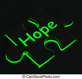 Hope Puzzle Shows Wishes And Hopes - Hope Glowing Puzzle...
