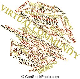 Word cloud for Virtual community - Abstract word cloud for...