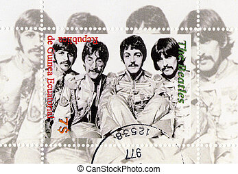 Guinea - CIRCA 1996: The Beatles - 1960s famous musical pop...