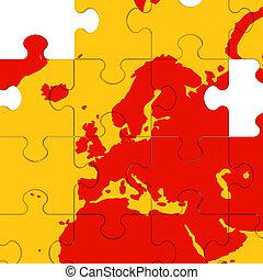 Europe Map Showing European Travelling
