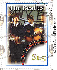 stamp with famous rock and roll group The Beatles