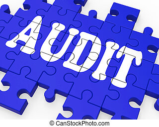 Audit Puzzle Showing Auditor Inspections And Auditing