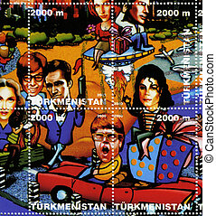 TURKMENISTAN-CIRCA 2000: stamp printed in Turkmenistan shows...