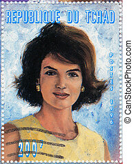 TCHAD - CIRCA 1996 : Stamp printed in Tchad shows Jacqueline...