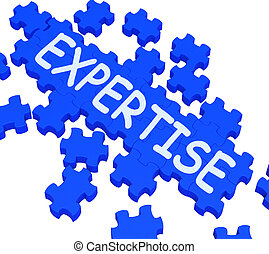 Expertise Puzzle Showing Excellent Skills