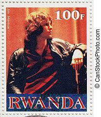 RWANDA CIRCA 2000 : Stamp printed in Rwanda with American...