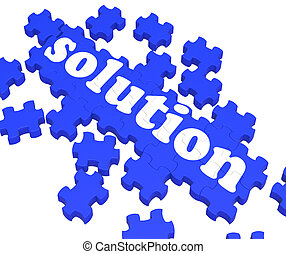 Solution Puzzle Shows Business Success