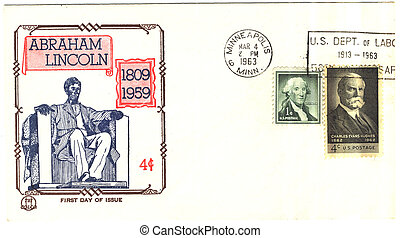 vintage USA envelope 16s president of The USA Abraham...