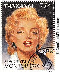 vintage stamp with Marilyn Monroe