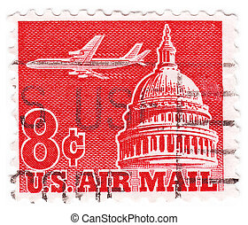 USA - CIRCA 1970: stamp printed in the USA shows image of...