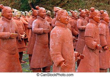 Terracotta, guerreiros